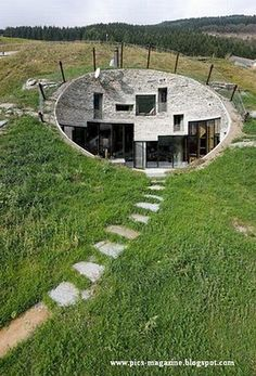 High tech Hobbit hole?