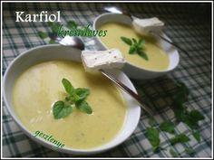 Gesztenye receptjei: Karfiol krémleves camembert sajttal Cheeseburger Chowder, Soup, Soups