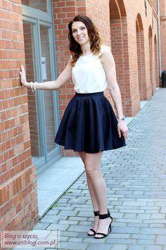 Tutorial jak uszyć spódnicę z koła - blog o szyciu