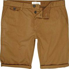 Brown roll up shorts - chino shorts - shorts - men (£25.00) - Svpply