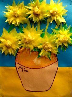 3rd grade Van Gogh Inspired art project