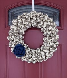 Hey, I found this really awesome Etsy listing at https://www.etsy.com/listing/178729487/chevron-wreath-everyday-wreath-spring