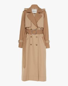 Trench Coat Outfit For Spring - FashionActivation Trench Coat Outfit, Hooded Trench Coat, Trench Coat Women, Long Trench Coat, Camel Coat, Big Fashion, Fashion Outfits, Womens Fashion, Fashion Trends