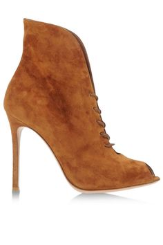 10 Chic Shoes For Now + Later - Best 2014 Pre-Fall Shoe Trends by Harper's BAZAAR: Ultra Suede Gianvito Rossi shoes, $1,020, shopBAZAAR.com