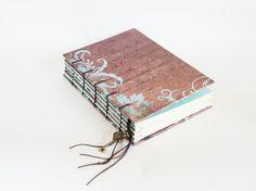 Arboretum Foil Handmade Coptic Bound Journal by missArAyA on Etsy