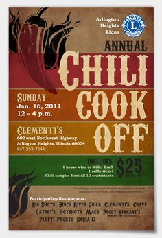 chili-cookoff Love this invite layout