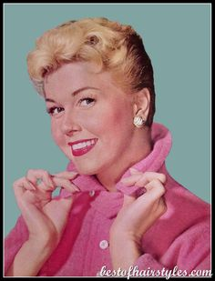 Old Hollywood Doris Day Graphic Classic Hollywood, Old Hollywood, Hollywood Icons, Tiers Monde, 1950s Hairstyles, Celebrity Hairstyles, Classic Movie Stars, Classic Films, She Is Gorgeous