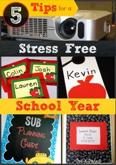 5 Tips for a Stress Free School Year in Preschool and Kindergarten