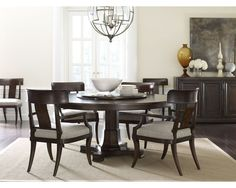 Round tables like the Thomasville Harlowe & Finch Adelaide Round Dining Table don't play favorites. With no formal head of the table, everyone is equally at home! Find your perfect dining table at West Coast Living