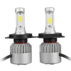 Pair 36W 8000LM COB LED Car Headlights Fog Lamps Bulbs H4 H7 H11 9005 9006 6500K White Sale - Banggood.com Car Headlight Bulbs, Lamp Bulb, Led Headlights, Electric Scooter, Car Lights, Car Audio, Cob, Automobile, Lamps