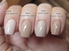Essie Nude Nail Polish Awesome Pin by ملاك الورد On مناكير Neutral Nails, Nude Nails, Glitter Nails, Sand Nails, Beige Nails, Hair And Nails, My Nails, Manicure And Pedicure, Nail Art
