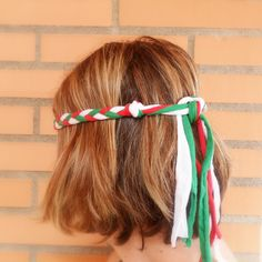 Italian headband for Girl Scouts world thinking day + the girls can make them