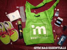 #OperationSkinny 10 Gym Bag Essentials