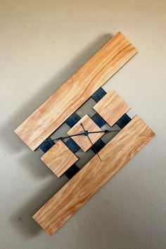 Floating, Wall Wood Clock, Stain: Early American (Oak, Poplar) on Etsy, $89.00