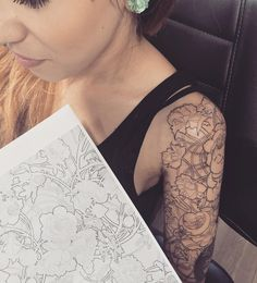 "107 likerklikk, 3 kommentarer – Francesca Sattanino (@_koki_tattoo_) på Instagram: ""#mucha #muchatattoo #art #workinprogress #tattoo #tattooed #tattooartist #tattooedgirls…"""