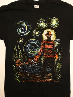 Freddy Krueger and Jason Voorhees Abstract T-Shirt #FreddyKruegerJasonVoorhees #GraphicTee