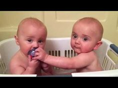 Cute TWIN Babies Share Pacifier - Funny Baby Videos - YouTube