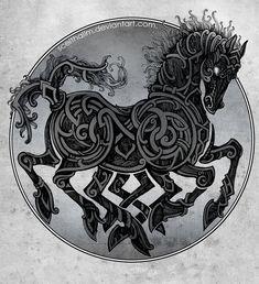 Sleipnir - Hijo de Loki, el caballo de los 8 vientos