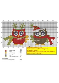 Cross Stitch *<3* Christmas chart Chouetty noel