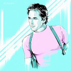 Miami Vice 1984  #punksy #artdeco #retrowave #synthpop #print #poster #MiamiVice #80s #eighties #JamesCrockett #DonJhonson #ViceCity #MoonbeamCity