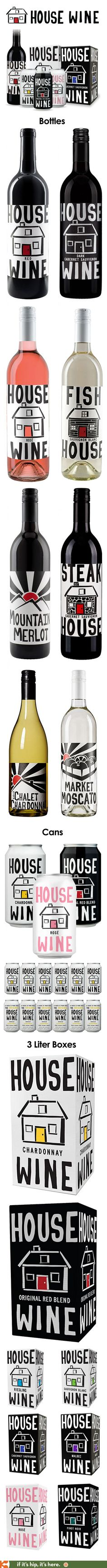 The highly regarded wines in bottles, cans and boxes from the Original House Winery in Washington have cute and consistent design and packaging.
