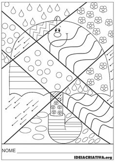 46 Ideas autumn art for kids coloring pagesBest 12 Girl Holding an Umbrella Spring Coloring Page – SkillOfKing.Arts And Crafts Wallpaper Key: art project- could do the patterns with markers, colored pencils or crayons! Spring Coloring Pages, Colouring Pages, Coloring Books, Pop Art, Art For Kids, Crafts For Kids, Arts And Crafts, Britto Disney, Autumn Crafts