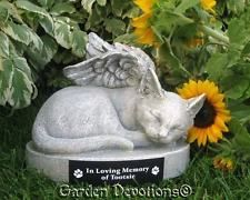 KITTY CAT ANGEL PET MEMORIAL  Garden Statue Grave Marker Stone PERSONALIZED