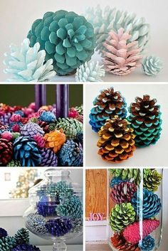 Easy Pine Cone Projects More projekte beton, Building And Installing Diy Concrete Countertops Pine Cone Art, Pine Cone Crafts, Pine Cones, Fall Crafts, Holiday Crafts, Diy And Crafts, Christmas Crafts, Painted Pinecones, Diy Concrete Countertops