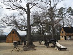 The reconstructed fort at Jamestown