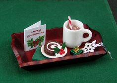 Hot Cocoa and Dessert Tray (1:12th Scale) by EverydayGourmet on Etsy https://www.etsy.com/listing/255439927/hot-cocoa-and-dessert-tray-112th-scale