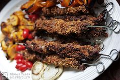 West African Peanut Kebabs with Chicken Beef Recipes, Chicken Recipes, Cooking Recipes, Healthy Recipes, Peanut Recipes, Ghana Food, West African Food, Nigerian Food, International Recipes