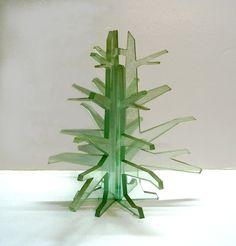 glass sculpture in waterjet cutting - 8mm glass -cm 30 x 38 H.