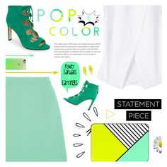 """POP"" by r-maggie ❤ liked on Polyvore featuring McQ by Alexander McQueen, MANGO, Nine West, Casetify and Old Navy"