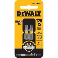 DEWALT MaxFit Screw driving bits are the perfect way to maximize your DEWALT power tool system. Featuring the 10X Magnetic Screw Lock System the MaxFit bits are ideal for use in impact drivers and drill/drivers. Each bit features a precision-machined tip for ideal fit in screw head recesses, resulting in less stripped screws. The Magnetic Screw Lock System holders and sleeve feature a floating ring magnet for fastener retention.