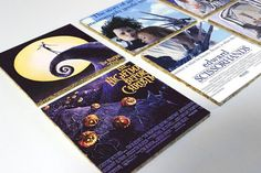 Tim Burton Movie Posters Cork Coasters Set by OneofaKindbySSD