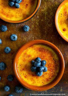 Andalusian auringossa-ruokablogi: Juhannuskalenterin 18. luukku: Crema catalana al naranja