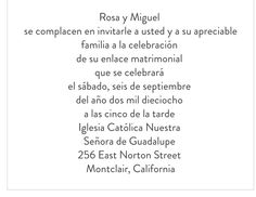 spanish wording for invitations even though the wedding will be, invitation samples