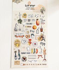 Things In Life Stickers // Erin Condren Planner Stickers // Scrapbooking embellishment // DIY essentials
