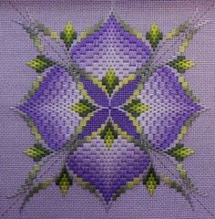 Canvas work is one of the oldest forms of embroidery. Bargello, or Florentine stitch is a great way of starting canvas work. Scroll to the end for a free chair seat pattern to get you started.