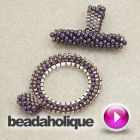 Tutorial - Video: How to Bead Weave a Toggle Clasp | Beadaholique