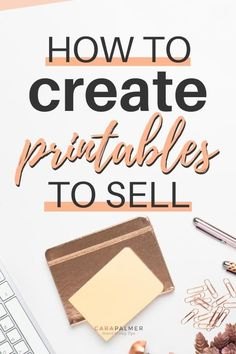 Tips to create awesome printables for free. Learn how to create printables for your personal use, your blog , to grow your email list, and even to sell and make money! Make Money Fast, Make Money Blogging, Make Money From Home, Make Money Online, Managing Money, Money Tips, Saving Money, Business Notes, Business Ideas