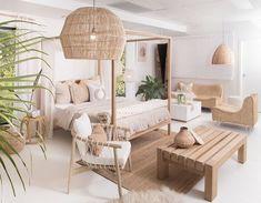 Interior Living Room Design Trends for 2019 - Interior Design Home Decor Bedroom, Interior Design Living Room, Living Room Designs, Living Room Decor, Dining Room, Beach Interior Design, Tropical Interior, Ibiza Style Interior, Bali Bedroom