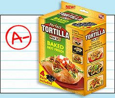 Perfect Tortilla Pan Set (HG Grade A-) - Create baked taco-bowl shells out of ordinary tortillas without all the fat of fried versions.