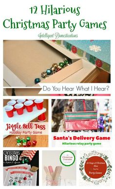 12 Hilariously Fun Christmas Games for a Party!