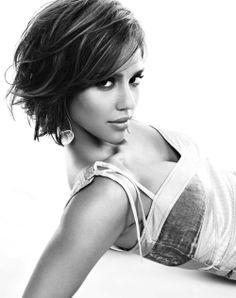 Jessica Alba #women #black and white #photography