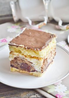 Dessert Cake Recipes, Sweet Desserts, Sweet Recipes, Polish Desserts, Polish Recipes, Polish Food, Crepe Cake, Specialty Cakes, Cake Cookies