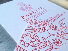 Welcome Babette! Letterpress