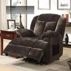New Brown Leather Power Recliner Lazy Boy Reclining Chair Furniture Barcalounger | eBay //.ebay.com/itm/181932564328?ssPageNameu003dSTRKMESELXu2026 & New Brown Leather Power Recliner Lazy Boy Reclining Chair ... islam-shia.org