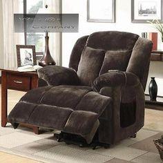 New Brown Velvet Lift Recliner Power Lazy Boy Chair Seat Furniture