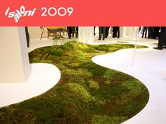 Wow a moss path right in your home! Biodegradable moss planter by Azuma Makoto with Terramac Interior Garden, Interior Exterior, Home Carpet, Car Carpet, Eco Architecture, Green Building, Sustainable Design, Biodegradable Products, Natural